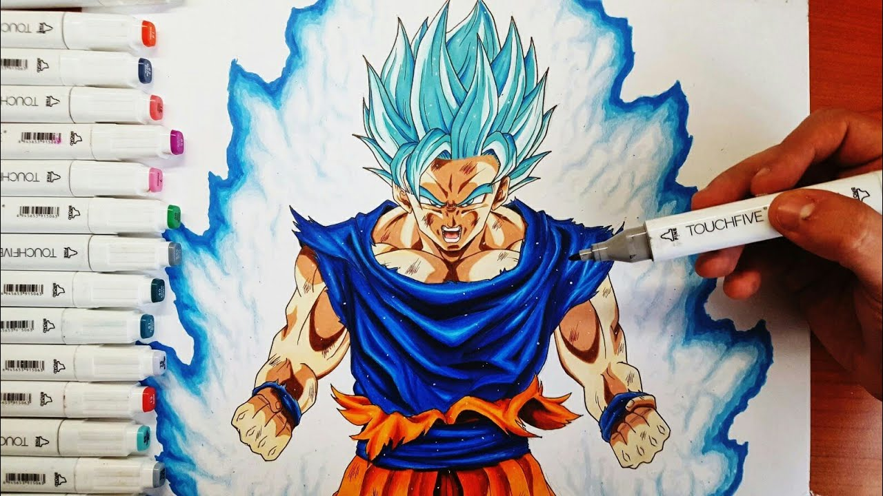 Disegno Goku Ssj Blue Dragonball Super Drawing Goku Youtube