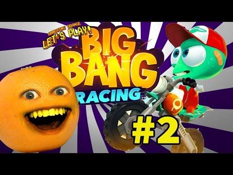 Annoying Orange Plays - Big Bang Racing #2: Orange Helmet! |