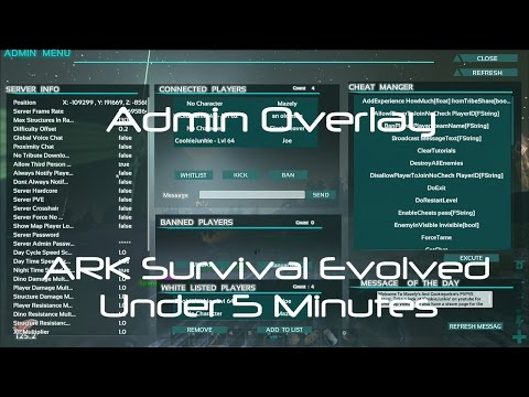 Admin Manager [How to Use Admin GUI] [ARK Survival Evolved]