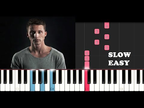 NF - Lie (SLOW EASY PIANO TUTORIAL)