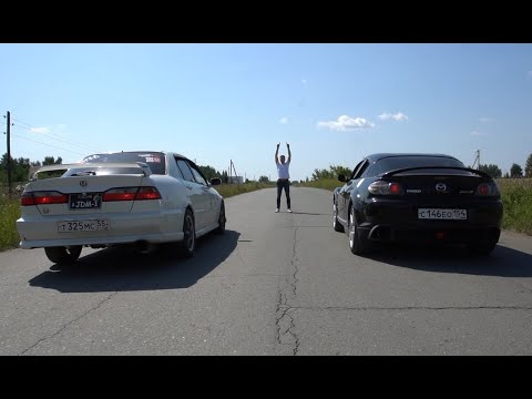 Mazda RX-8 1.3 210Hp Vs Honda Accrod Type-R 2.2 220Hp Vs Mitsubishi Sigma V6 3.0