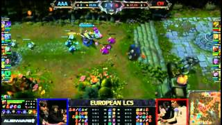 AAA Vs Copenhagen Wolves (Bjergsen Zed)   - Fan Made Highlights - EU LCS W6D2 2013