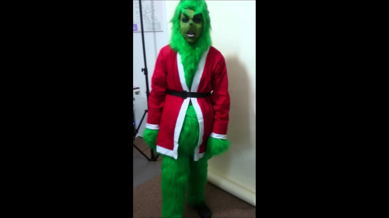 the grinch costume for sale in my online ebay store  sc 1 st  YouTube & the grinch costume for sale in my online ebay store - YouTube
