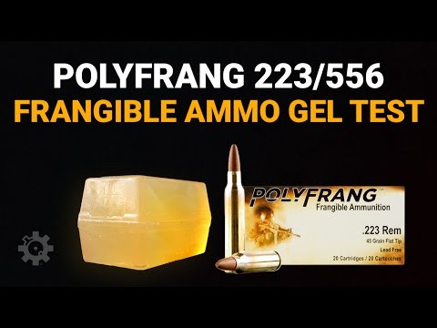 PolyFrang.223/5.56mm Frangible Ammunition - Gel Test
