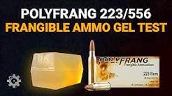 PolyFrang .223/5.56mm Frangible Ammunition - Gel Test