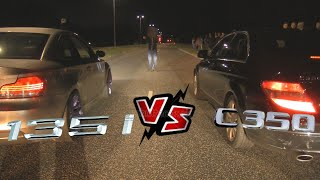 BMW 135I Vs Mercedes C350 Streetrace - Striben