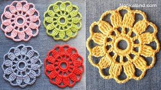 How to crochet EASY for beginners CROCHET Motif Flower