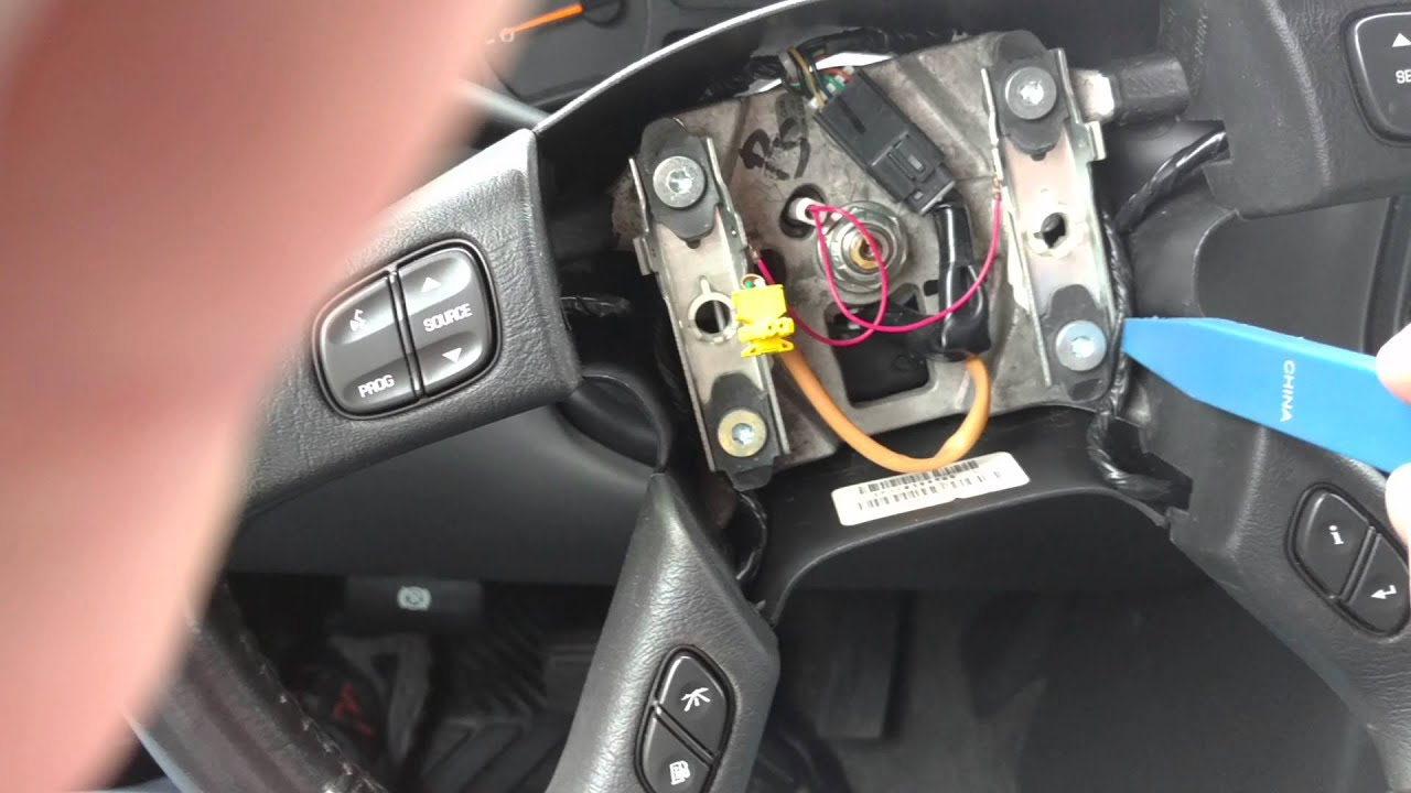 Chevy Truck Steering Wheel Accessory Button Reinstall made easy