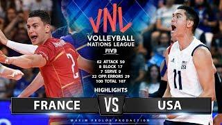France vs USA | Highlights Men's VNL 2019