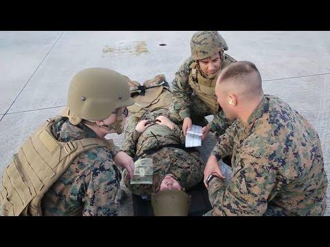 Marines and Sailors Train CASEVAC