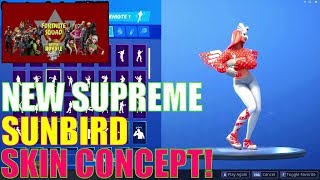 "NEW* Fortnite ""Supreme Sunbird"" Skin CONCEPT Showcase With All LEAKED"