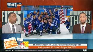 U.S. Womens Hockey Def. Canada 3-2 in shootout for Olympic - Skip and Shannon Undisputed   2/22/2018