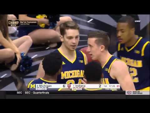 2016 BIG Ten Tournament Quarterfinals Michigan vs. Indiana