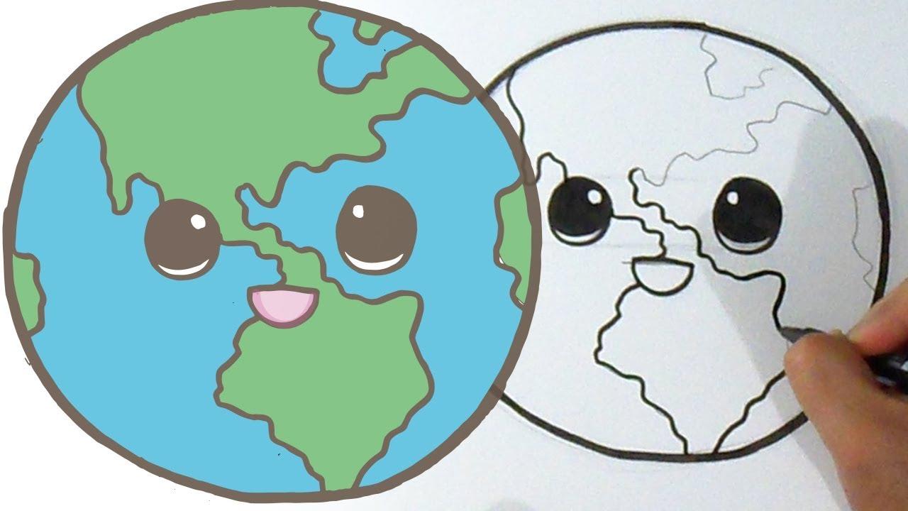 Cómo Dibujar Un Planeta Kawaii