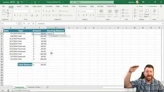 Microsoft Excel Running Total with SUM and SUMIF Functions