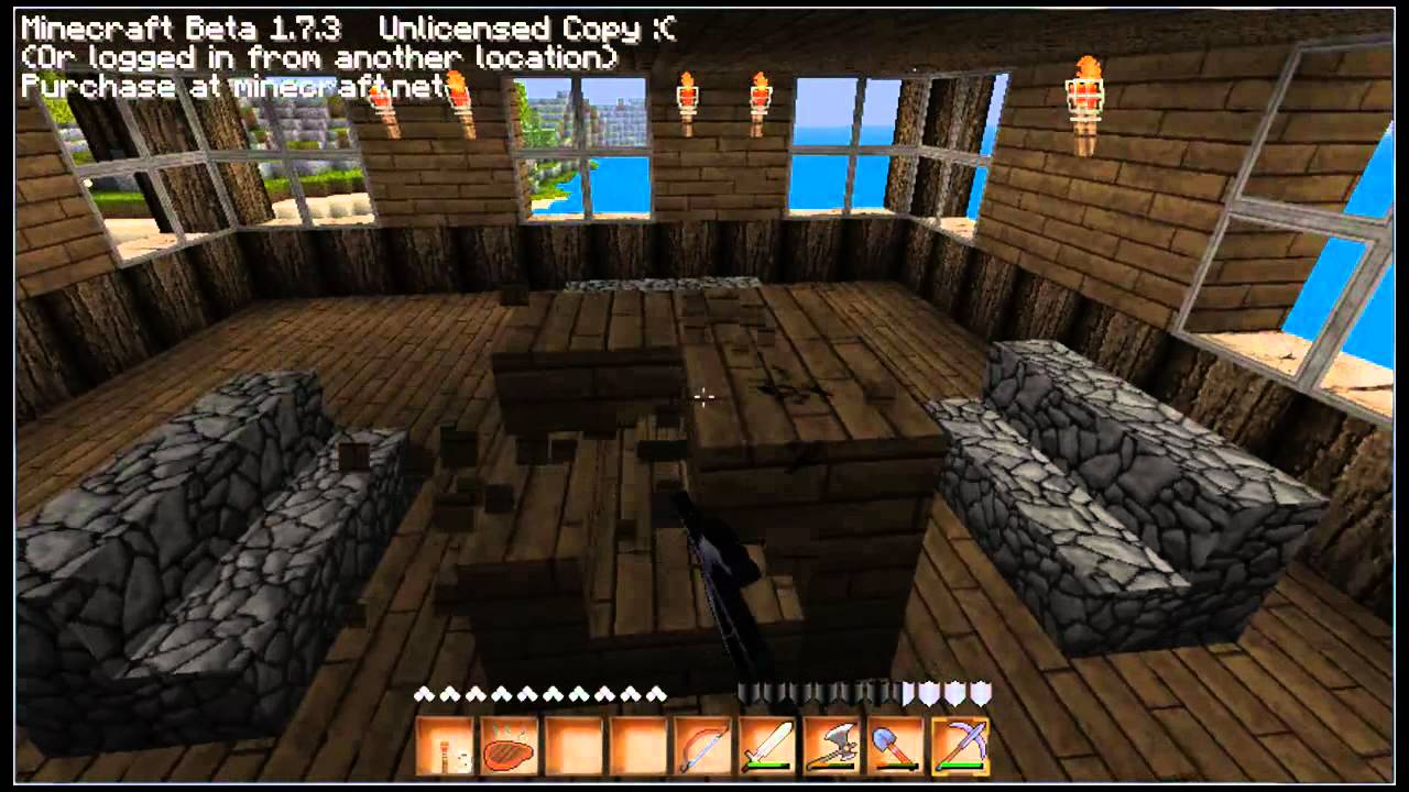 let 39 s play minecraft hd 17 tisch st hle und h hlenzauber youtube. Black Bedroom Furniture Sets. Home Design Ideas