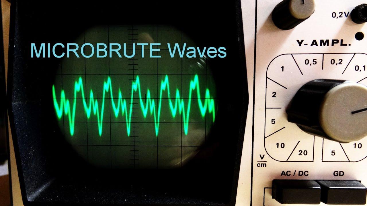 Microbrute Synthesizer & Oszilloskop Oscilloscope (waveforms ...