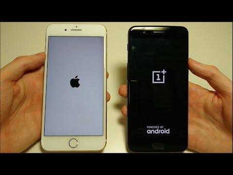 ONEPLUS 5 VS APPLE IPHONE 7 PLUS SPEED TEST!