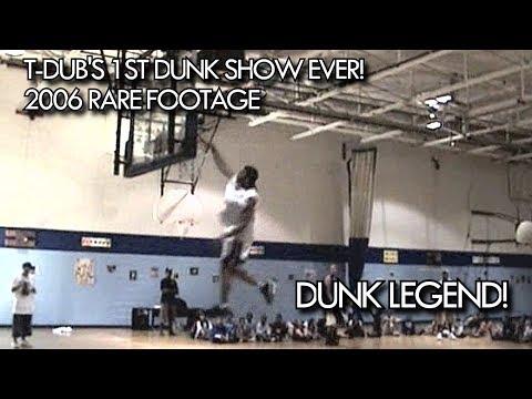 "5'9"" T-Dub's 1st DUNK SHOW ever |  Dunk Legend's RARE FOOTAGE"