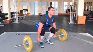 Становая тяга со штангой + как научиться держать спину ровно