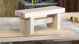 скамейка для ребенка своими руками