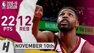 Tristan Thompson Full Highlights Cavaliers vs Bulls 2018.11.10 - 22 Pts, 12 Rebounds!