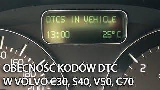 Odczyt DTC z ukrytego menu w Volvo C30, S40, V50, C70 (diagnostyka)