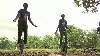 Reinventing the wheel with a Nigerian kids' unicycle coach