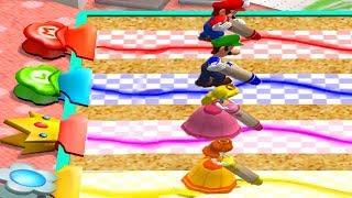 Mario Party 4 - Minigames - Mario vs Luigi vs Peach vs Daisy