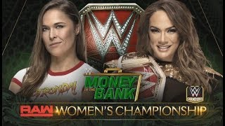 Ronda Rousey vs Nia Jax Raw Women's Championship - Money In The Bank 2018 - Full Match