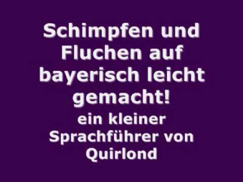 Schimpfen und Fluchen auf bayerisch leicht gemacht! Ein kleiner Sprachführer von Quirlond
