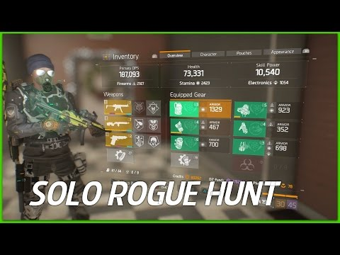 The Division - Solo Dark Zone Rogue Hunt with Striker's Gear Set