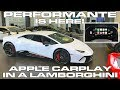 Lamborghini Huracan Performante is HERE    Apple CarPlay Demo