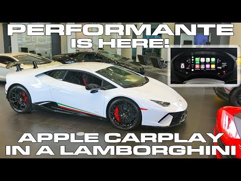 Lamborghini Huracan Performante is HERE! - Apple CarPlay Demo