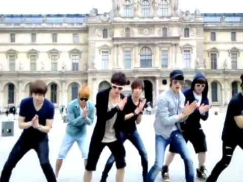 Super Junior & Shinee dancing Sorry-Sorry+Ring Ding Dong at France