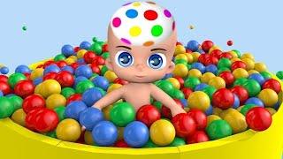 有趣的玩娃娃与球儿童视频