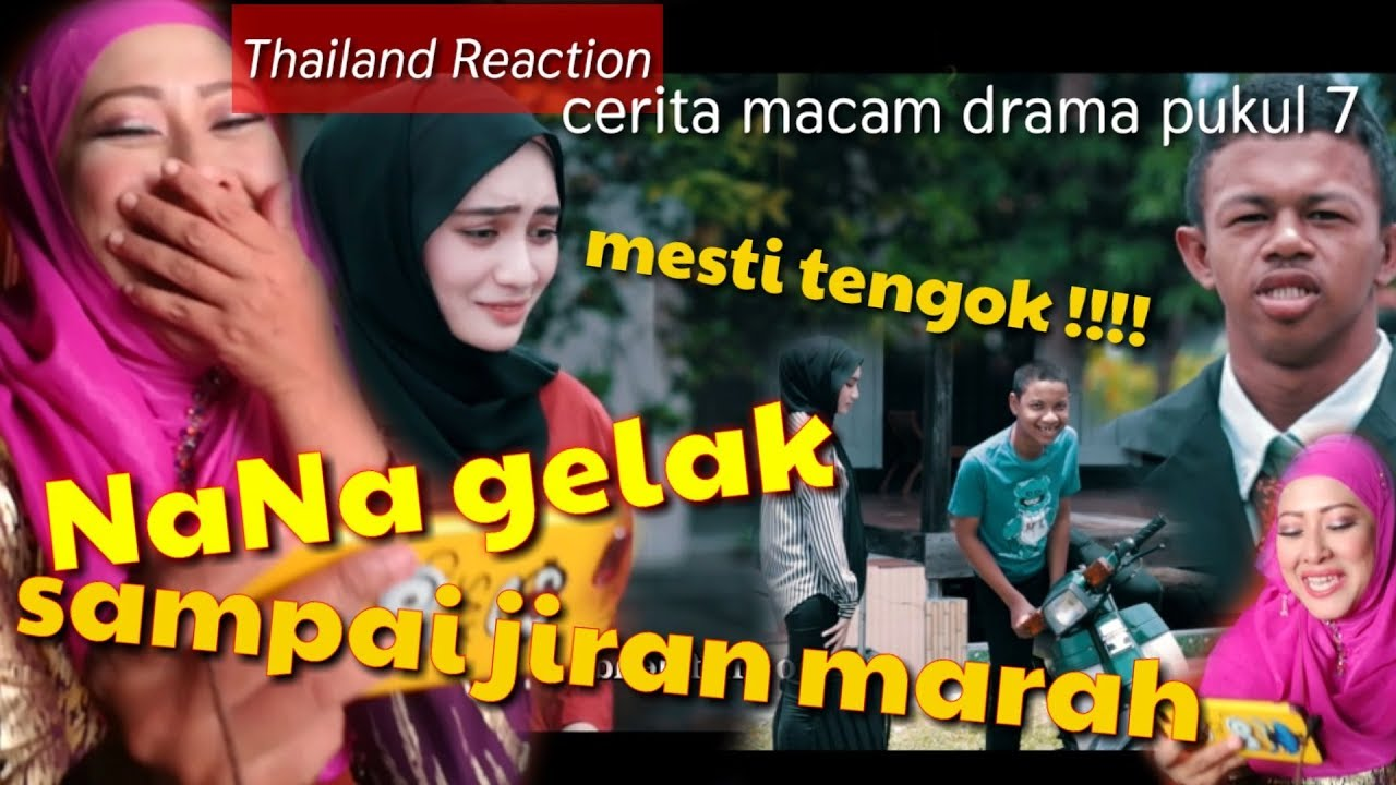 gelakkan ASIF sampai jiran terkejut | drama macam pukul 7 | reaction drama  spontan dari THAILAND