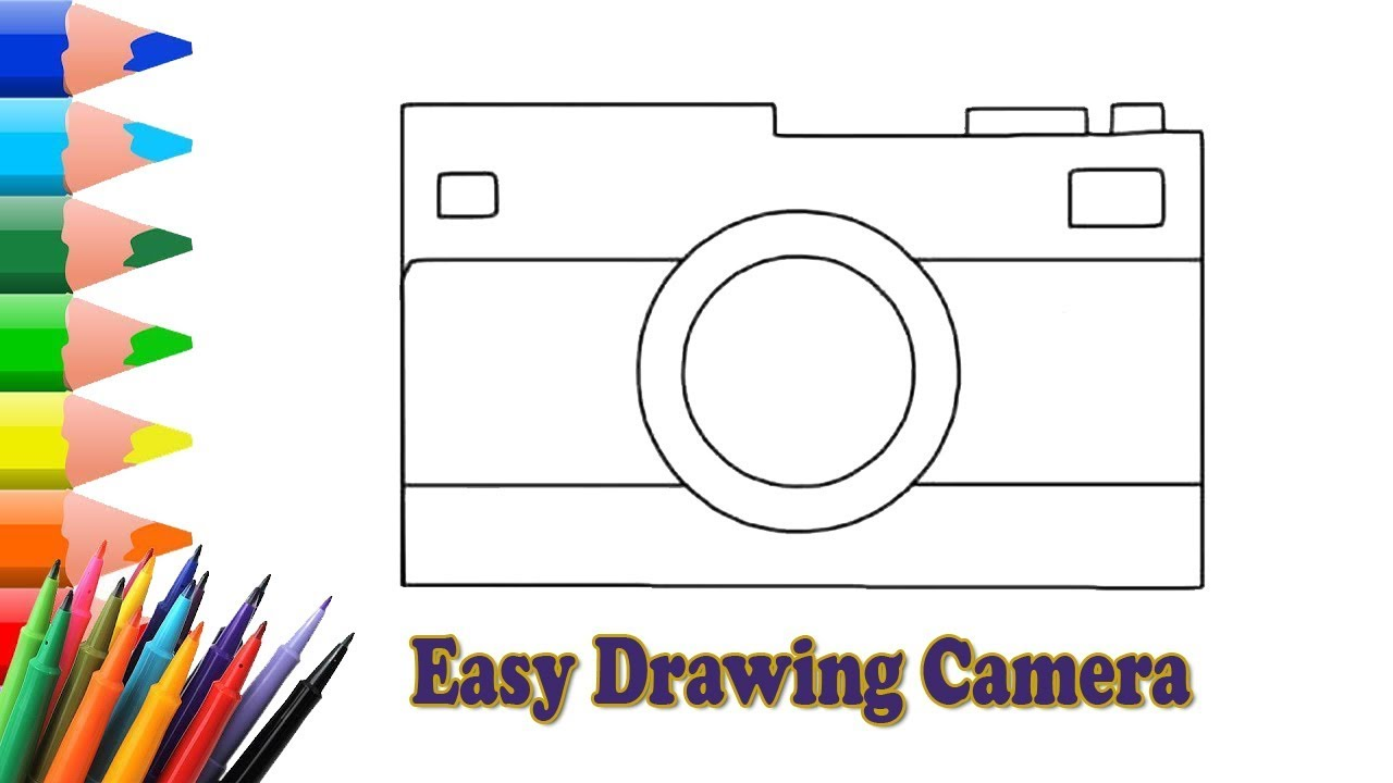 It is a photo of Monster Camera Drawing Step By Step