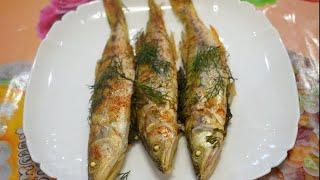 Судак запеченный в духовке./Pike-perch baked in the oven.