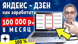 Яндекс Дзен: Как заработать на канале 100 тысяч в месяц  ► Подробная инструкция
