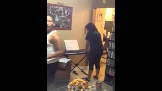 Samy and Lorenzo's duet on piano - pt 2