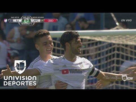 Hat-trick de Carlos Vela para la goleada 0-5 de LAFC sobre San Jose