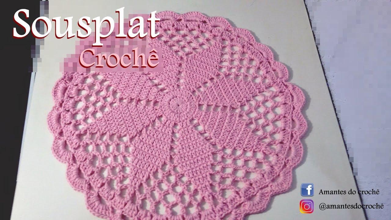 Sousplat De Croche Facil Youtube Diy Crochet Crochet Motif Crochet Videos