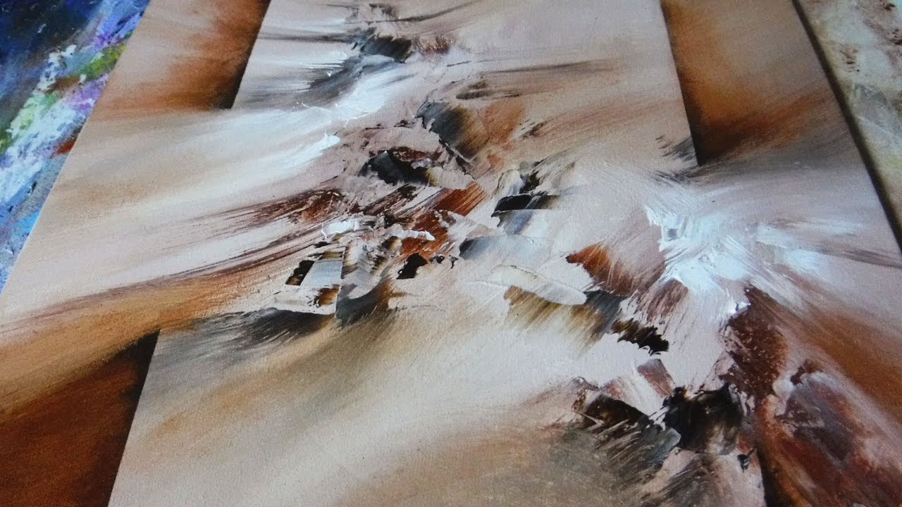 Abstract Painting DEMO 17 / How To Paint / Easy Abstract