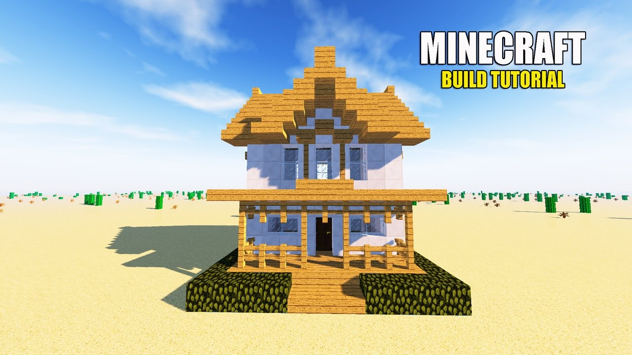 minecraft: how to make a suburban house tutorial ( simple & easy
