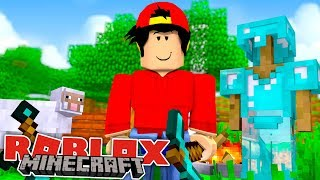 ROBLOX Adventure - MINECRAFT MINI GAMES IN ROBLOX???!!