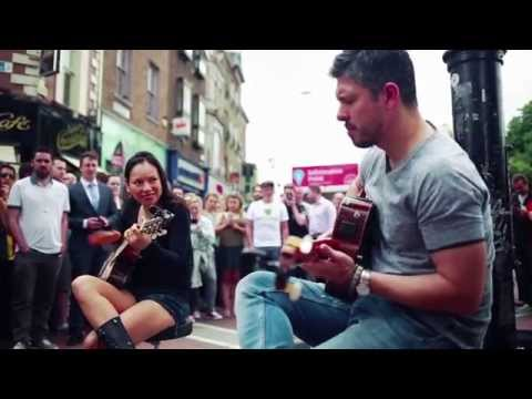 Rodrigo y Gabriela Busking - Grafton St. Dublin - June 2014  //  The Soundmaker