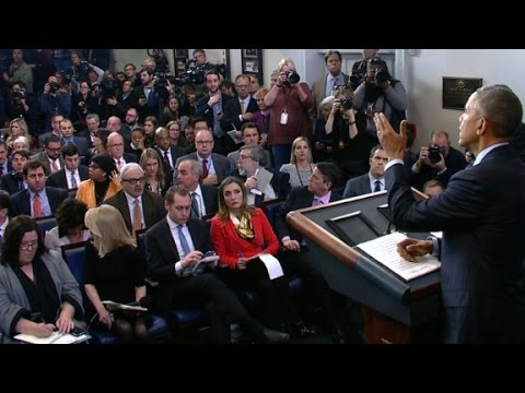 Obama calls for doctor during press conference