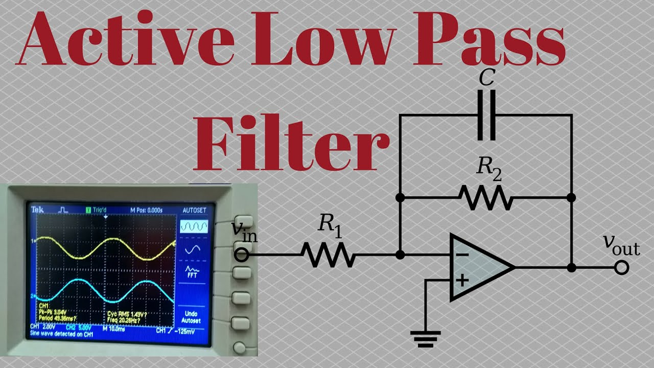 active low pass filter experiment youtube