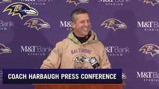John Harbaugh Full Press Conference After 41-7 Win vs. Houston | Baltimore Ravens